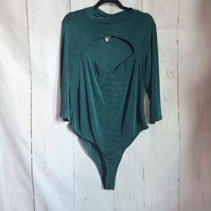 Lilian evergreen sexy bodysuit new plus size 3X